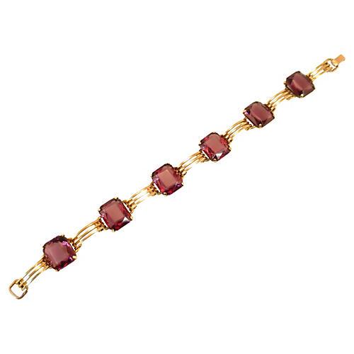 1920s Simmons Amethyst Bracelet