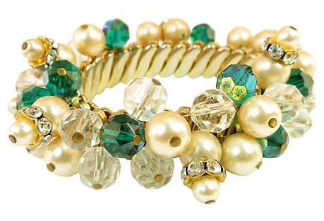 Emerald Crystal Bauble Bracelet
