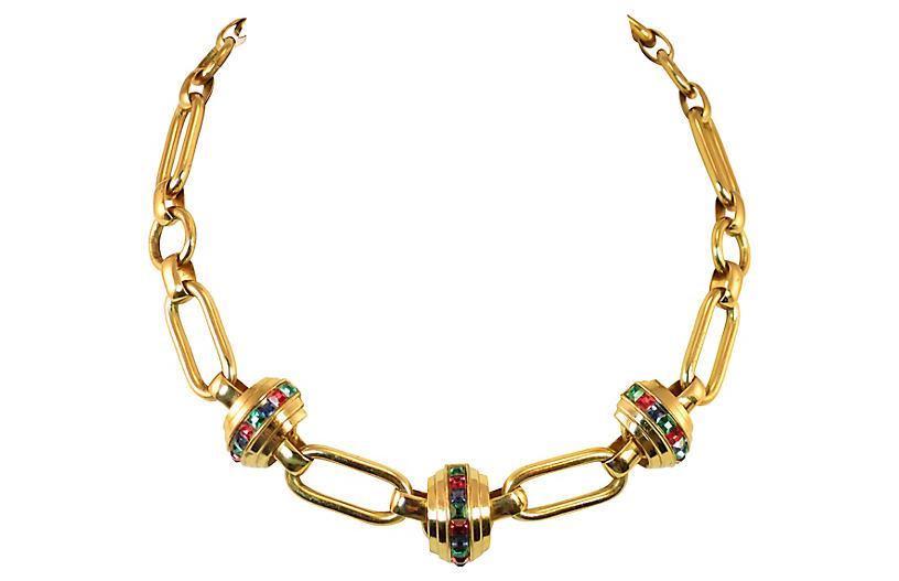 1930s Art Deco Link Necklace