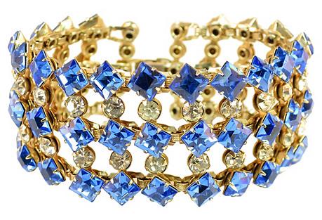 Austrian Cobalt Crystal Bracelet
