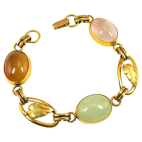 Binder Bros Sterling & Gold Bracelet
