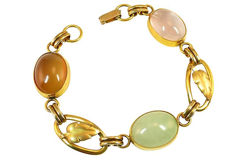 1920s Art Deco 12K & Sterling Bracelet