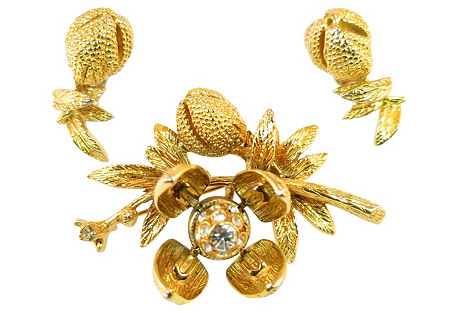 1950s Vogue 'Day-&-Night' Brooch Suite
