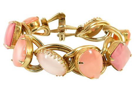 Kafin of NY Pink Glass Bracelet