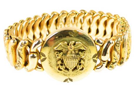 WWII American Queen Sweetheart Bracelet