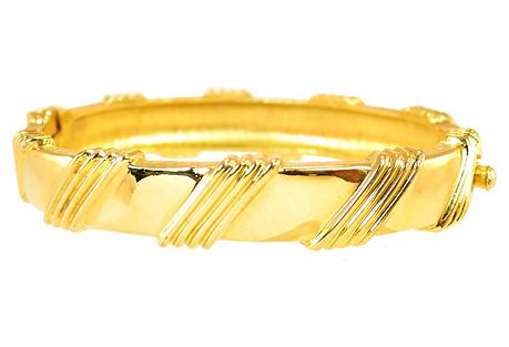 1950s Jomaz Gold Bangle Bracelet