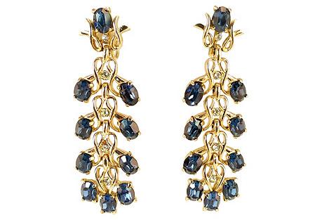 Kramer Sapphire Crystal Earrings