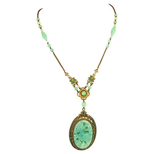 1920s Asian-Motif Czech Necklace
