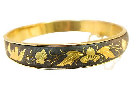 1950s Spanish Damascene Bangle Bracelet