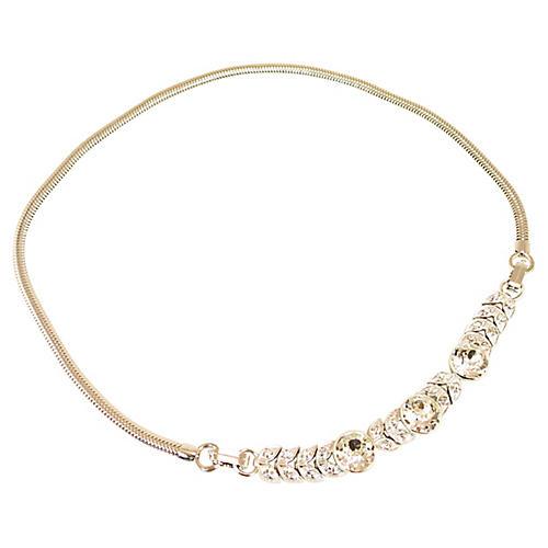 Engel Bros Sterling & Crystal Necklace