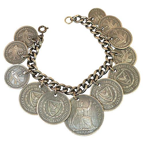 1960s Cyprus Coin Bracelet