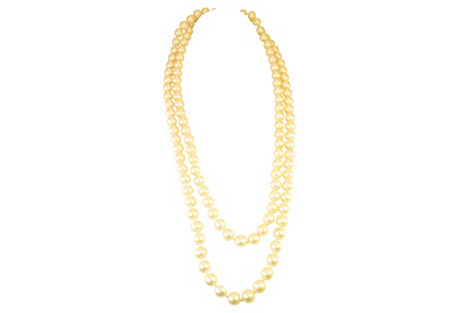 1950s Extra-Long Faux-Pearl Necklace