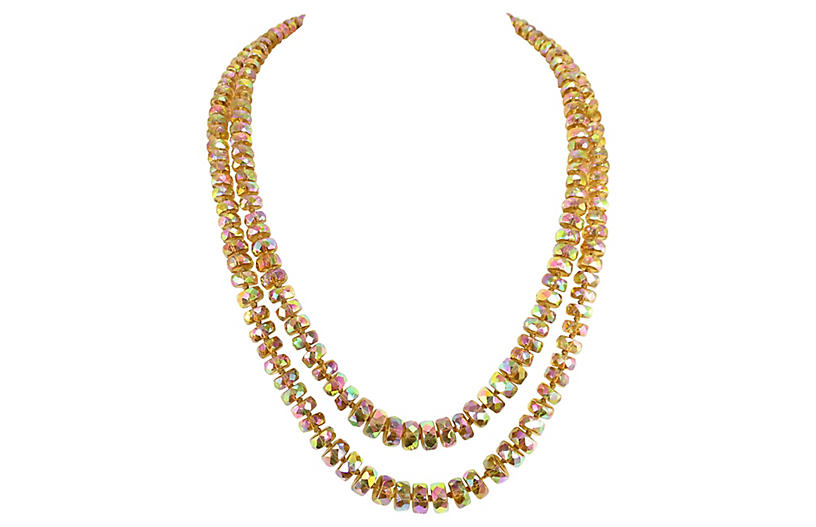 1950s Vogue Carnival Glass Necklace