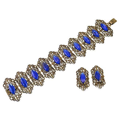Edwardian Vauxhall Glass Bracelet Set