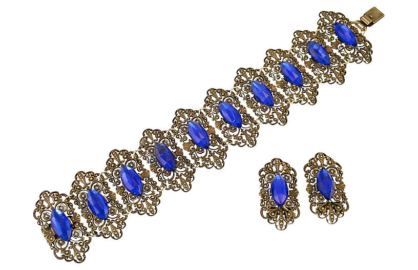 Edwardian Vauxhall Glass Bracelet Set