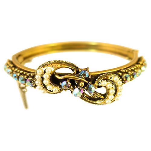 1950s Florenza Pearl & AB Bracelet
