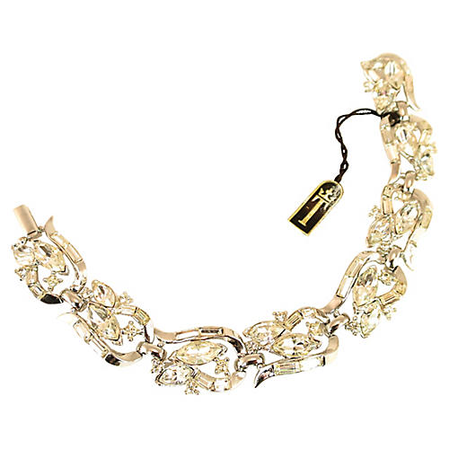 1950s Crown Trifari Crystal Bracelet