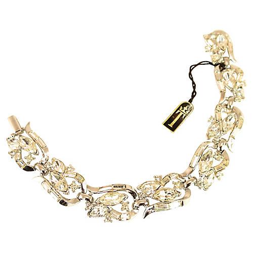 1950s Crown Trifari Crystal Bracelet