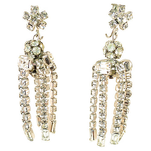 1950s Crystal Chandelier Earrings