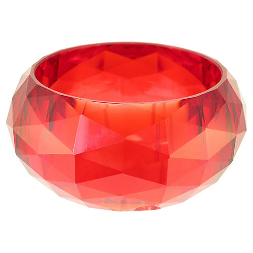 1960s Cherry-Red Lucite Bangle