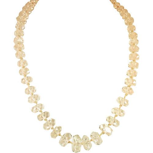 Edwardian Rock Crystal Necklace