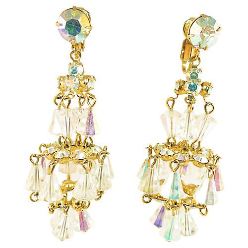 1950s Designer Chandelier Earrings