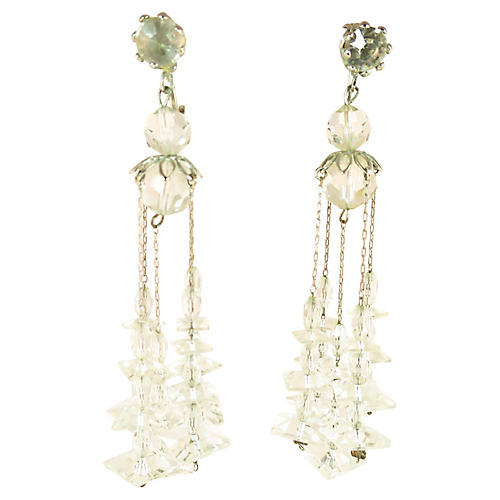 1950s Crystal Chandelier Earrings