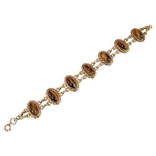 1940s Tigers Eye Bracelet
