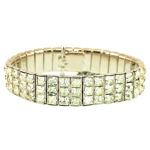 1930s Art Deco Crystal Line Bracelet