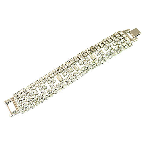 1960s Weiss Crystal Bracelet
