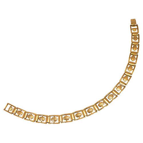1940s Kreisler Gold Geometric Bracelet