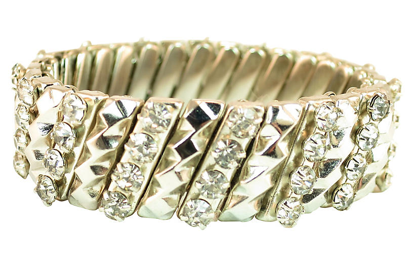 1950s Crystal Expansion Bracelet