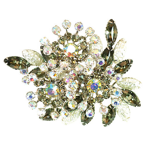 1950s Beau Jewels Black Diamond Brooch