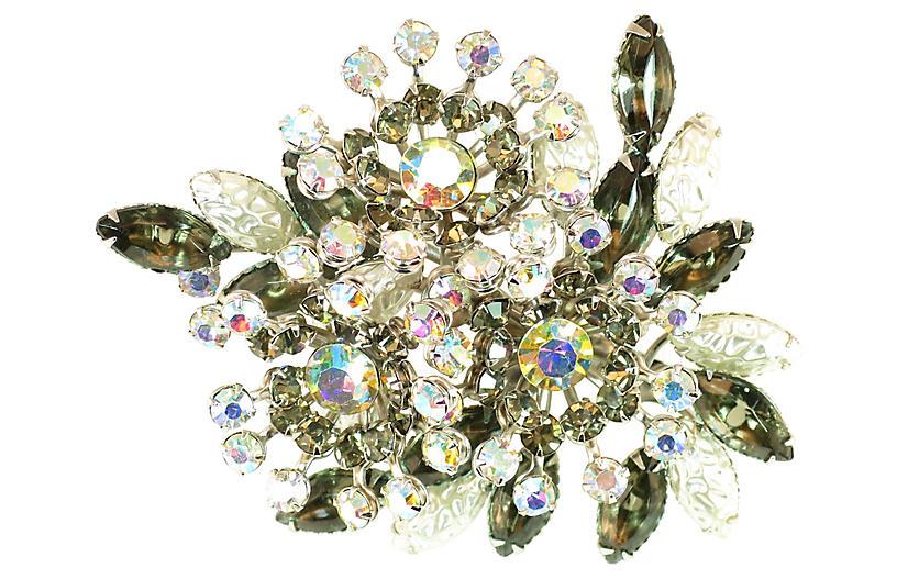 1950s Beau Jewels Black Diamond Brooch