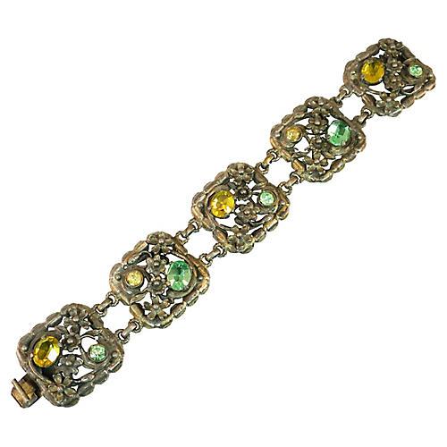 1930s Floral Panel Bracelet