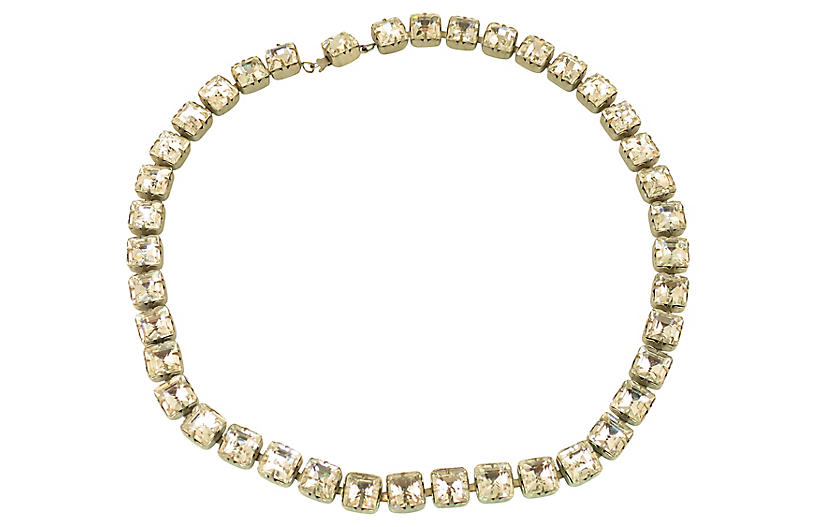 Art Deco Czech Crystal Necklace 1920s