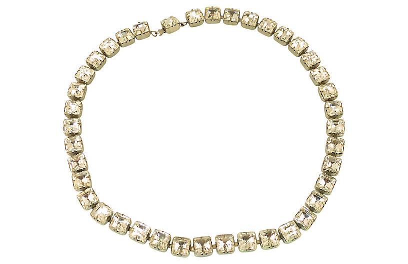 1920s Art Deco Czech Crystal Necklace