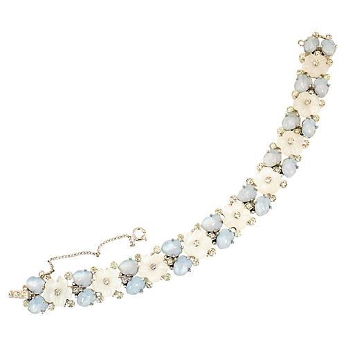 1940s Crown Trifari Floral Bracelet