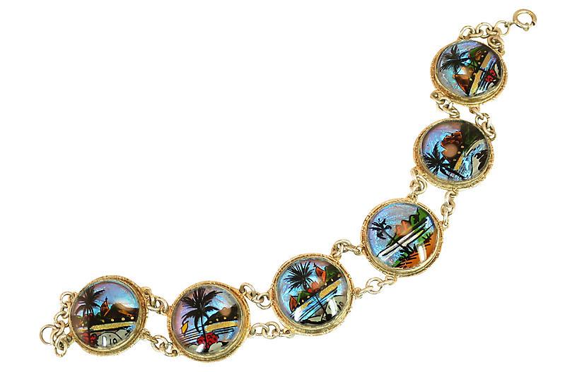 1950s Rio Butterfly Wing Bracelet