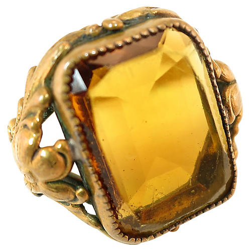 Edwardian Czech Floral Ring