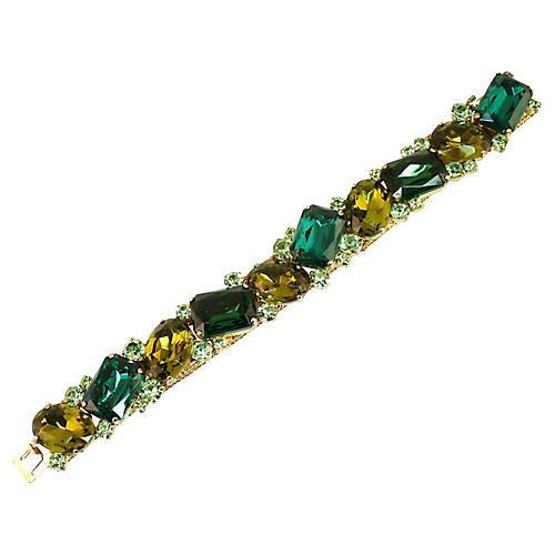 1950s Carnegie Emerald Olivine Bracelet