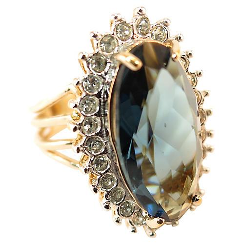 1960s ESPO Sapphire Cocktail Ring