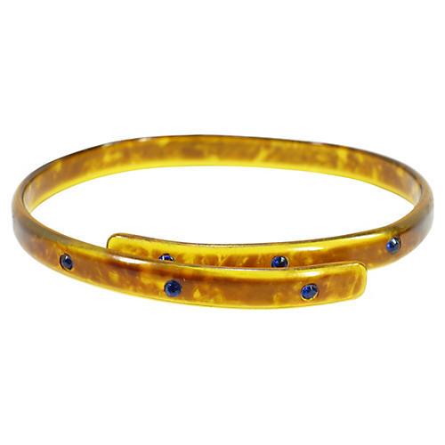 1920s Deco Tortoise Celluloid Bracelet