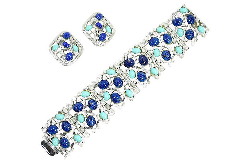1960s MCM Brutalist Bracelet Set