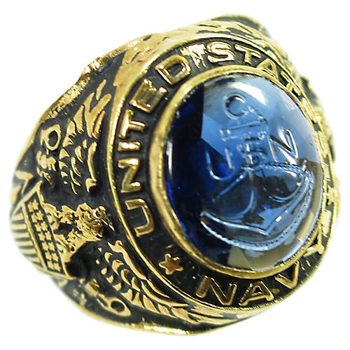 18K WWII Uncas US Navy Ring