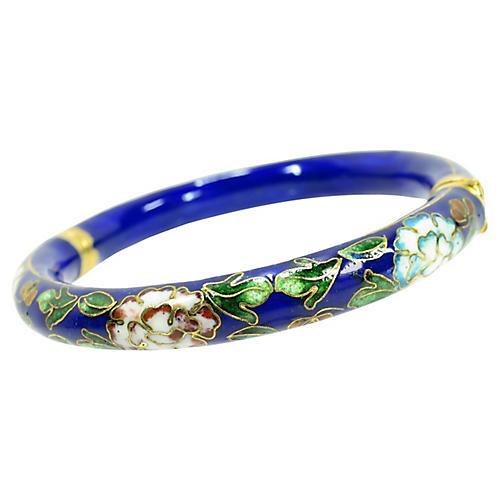 1960s Chinese Enamel Cloisonné Bracelet