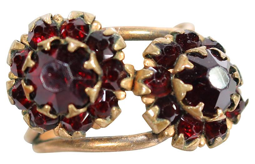 1920s Uncas Garnet Crystal Ring