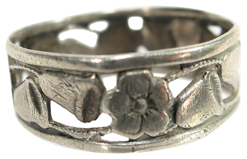 1930s Uncas Sterling Promise Ring