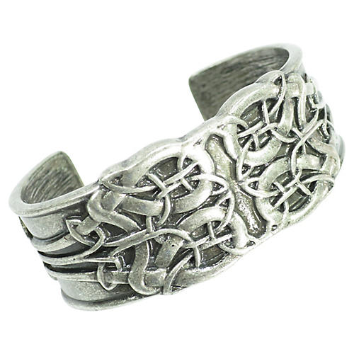 Pewter Arts & Crafts Cuff Bracelet