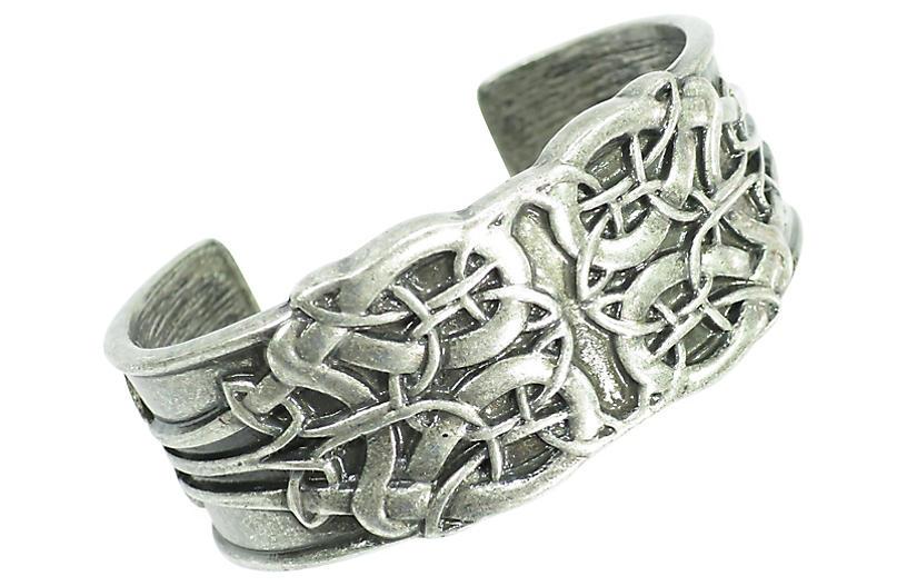Pewter Arts & Crafts Cuff Bracelet